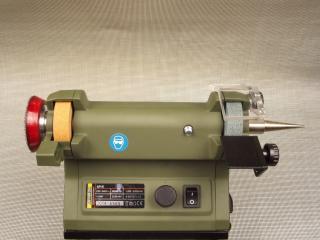 44702 mounts on the left shaft end of the 28030 SP/E grinder